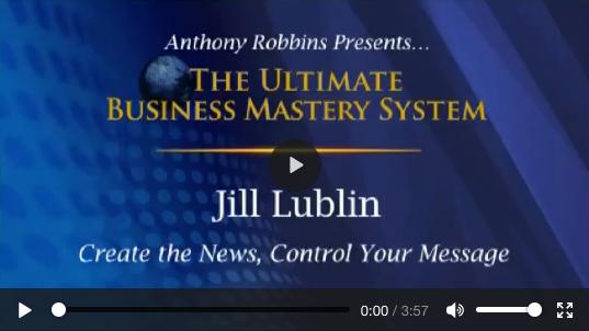Jill Lublin speaking on Tony Robbins' stage